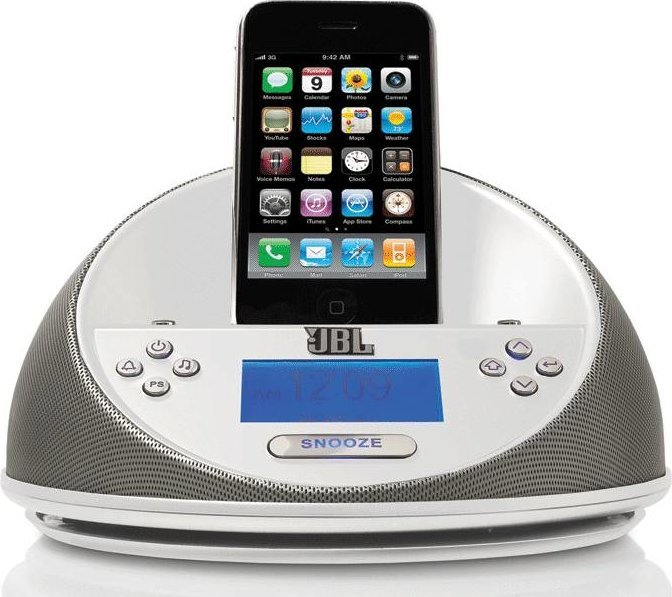 Docking station & cables MP3 Player Jbl On Time Micro loudspeaker - white  Pixmania