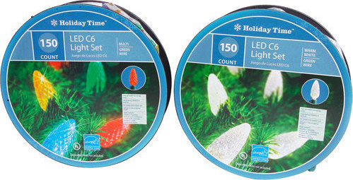 Holiday Time Christmas Lights.Holiday Time 150 Count Led Lite Lock C6 Christmas Lights Warm White
