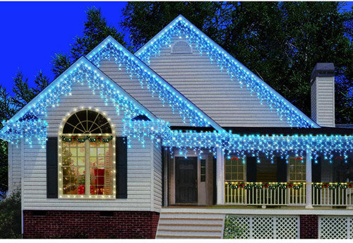 Icicle Christmas Lights.Holiday Time 300 Count Heavy Duty Icicle Christmas Lights Blue