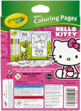 71662058197 Crayola Hello Kitty Mini Coloring Pages