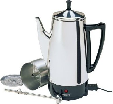 75741028118 Photo 3 4 The Presto 12 Cup Stainless Steel Coffeemaker