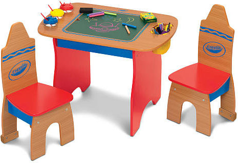 833186002458 Crayola Creativity Wooden Table And Chairs Set