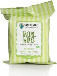 EARTHBATH 25 Count Facial Wipes Pouch for Dogs, Cats, Puppies and Kittens (3 Pack) Rosebud Brambleberry Rose Lip Balm Tin - Brambleberry