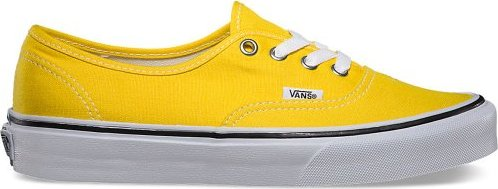 4159e37447d2 887867420307 Vans Authentic Womens Skate Shoes in Cyber Yellow True ...