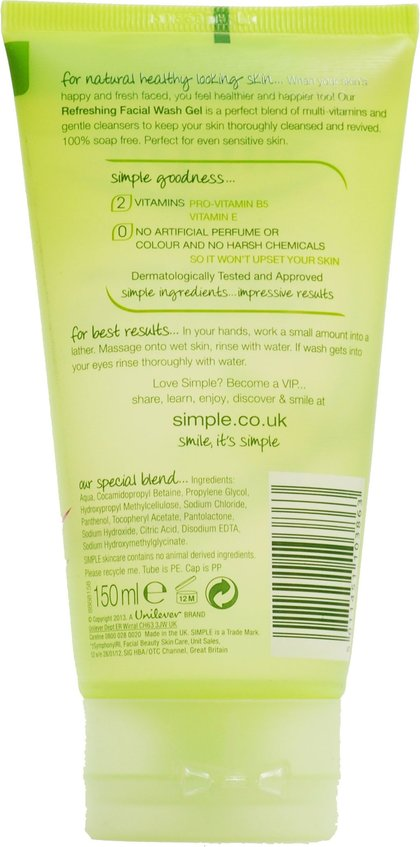 Something is. simple facial wash gel good idea
