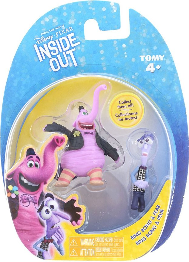 Disney PIXAR Inside Out Rileys 5 Emotions and Imaginary Friend  2 Mini  Figures 5 Emotion Characters and Bing Bong (3 packages)