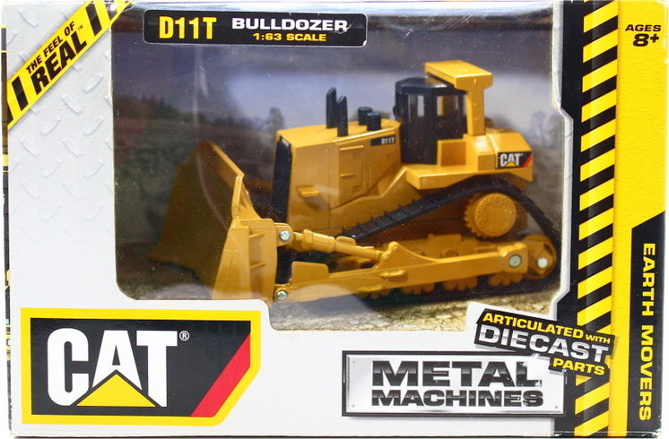 Toy State Caterpillar Metal Machines D11T Bulldozer Diecast Vehicle (Styles  May Vary)