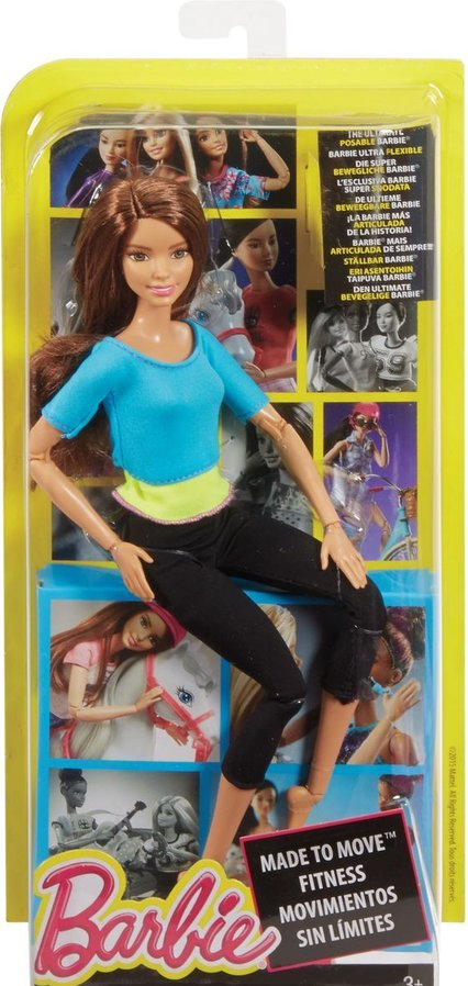 Blue Top Barbie Made to Move Barbie Doll