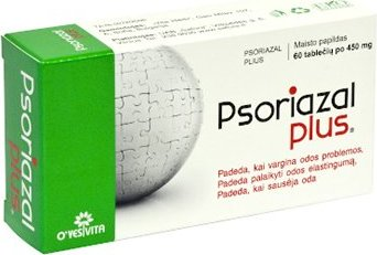 PSORIAZAL PLUS 60 Tablets - Clear Psoriasis Itchy Skin Rashes Relief  Natural Healing Psoriasis Treatment